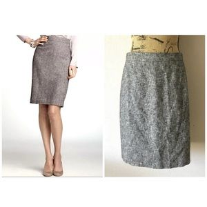 ANN TAYLOR MARLED WOVEN TWEED CLASSIC PENCIL SKIRT